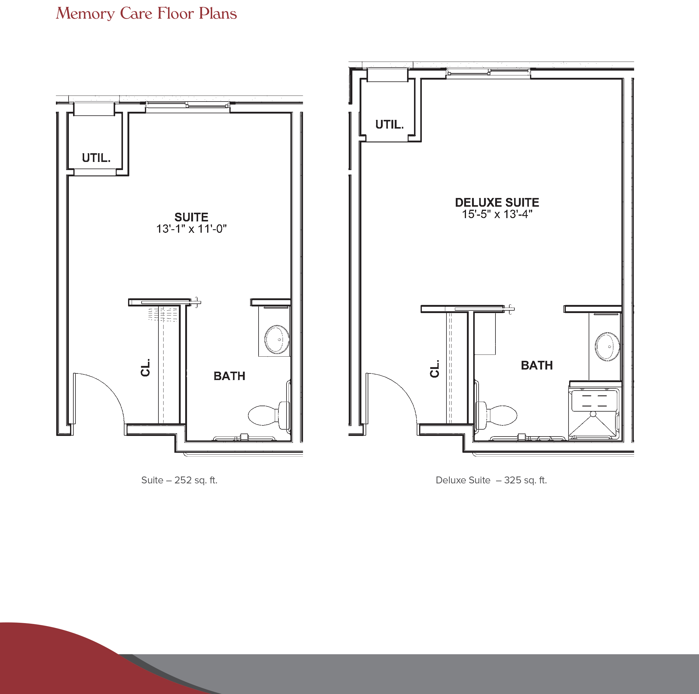 memory care floor plan